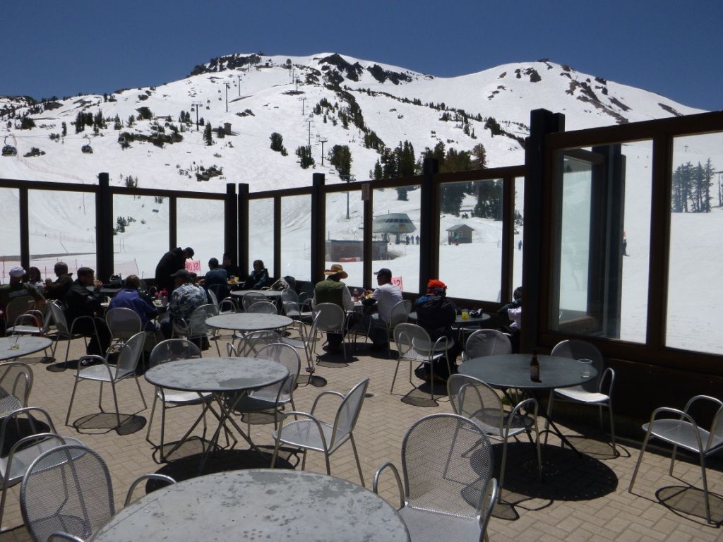 where to ski in june summer skiing Mammoth Lakes
