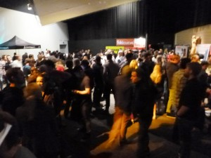 The crowd checking out the sponsors and getting ready for the premier