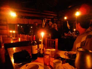 Romantic candlelit evening at Lone Mountain Ranch near Big Sky.
