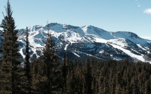 Mammoth Mountain Ski Area from Earthquake Dome