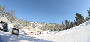 The Yurts in the main base area of Mt Bohemia - Photo Taken By - ChevrierDesigns.com