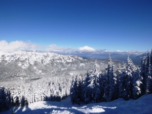 Trademark bluebird powder day at Sierra