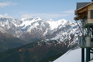 Photo Taken by Bryan Dearth - Tram station at Alyeska Resort near Girdwood, Alaska - May 28, 2011