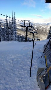 View at the top of the new Flower Point chairlift.