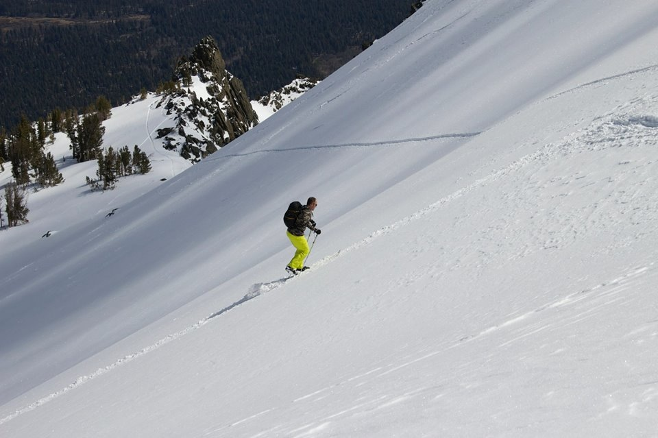 Skinning up Mt. Tallac