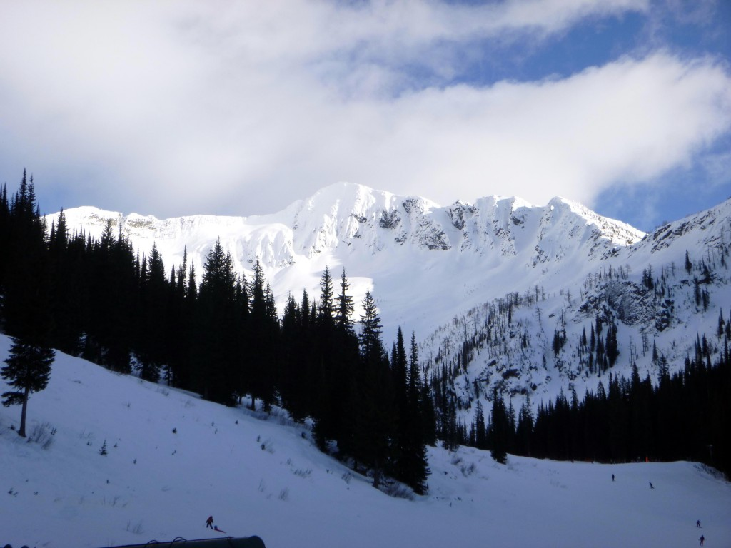 Mt Ymir at Whitewater Ski Resort - perfect terrain for a slopestyle competition