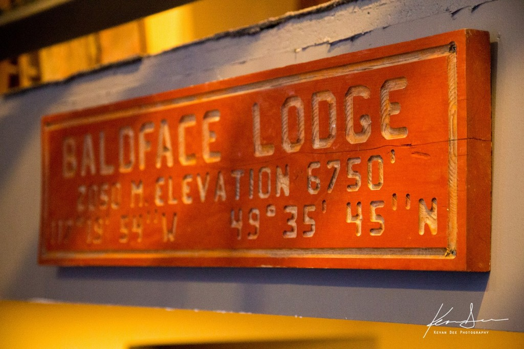 The sign at Baldface Lodge. Image taken by Kevan Dee.