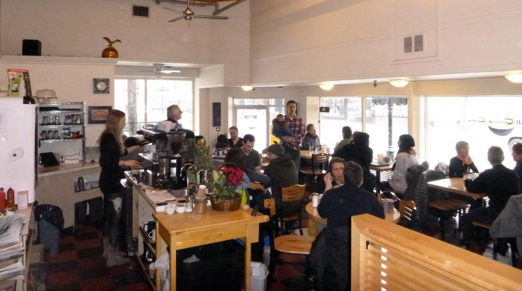 A busy morning at the Full Circle Cafe