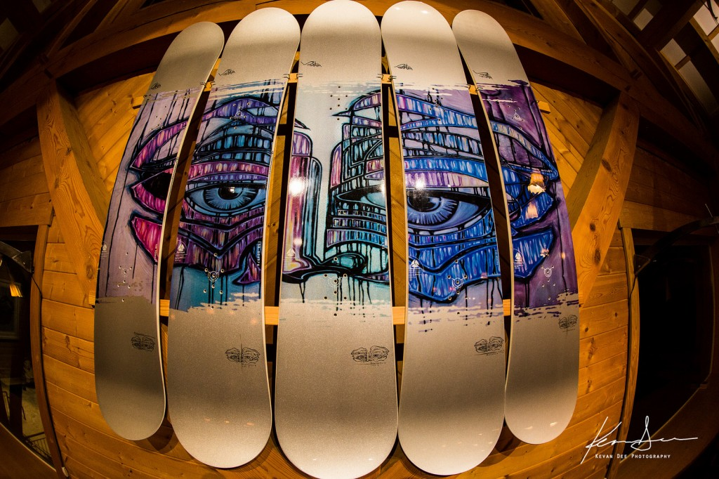 One of the few full collections of this famous Burton board in memory of Jamil Khan. Image taken by Kevan Dee