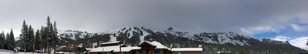 The view of Kirkwood from the base village.