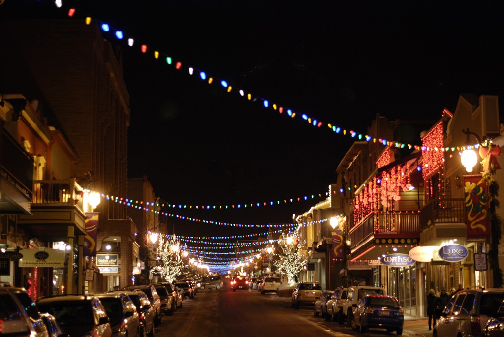 Main Street in Park City during Christmas - Image taken by Class V