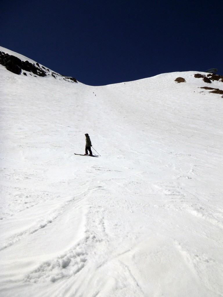 Cornice Bowl Mammoth Mountain California Spring Skiing
