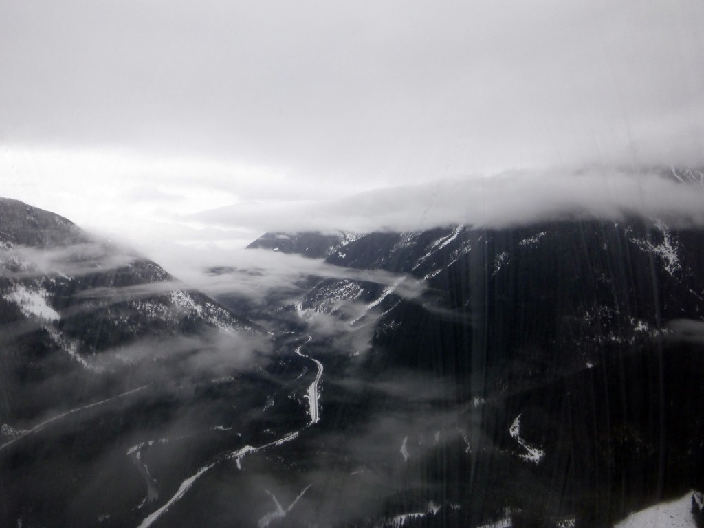 The view of the Selkirk Mountain range in the Selkirk Tangiers helicopter