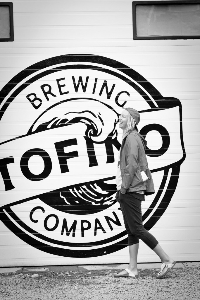 Photo Courtesy: - Highway Tour Collective Nadine enjoying a brew at Tofino