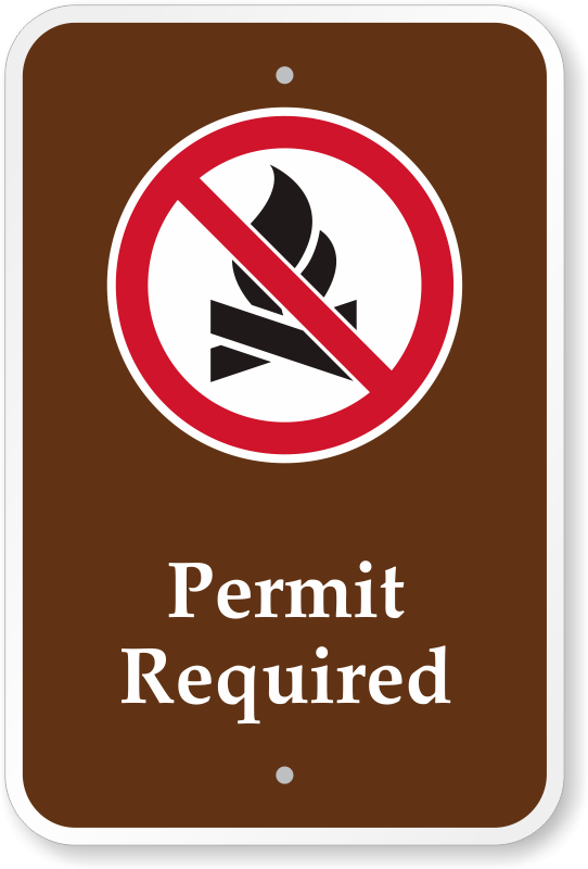 permit-required-campground-sign-k-0519