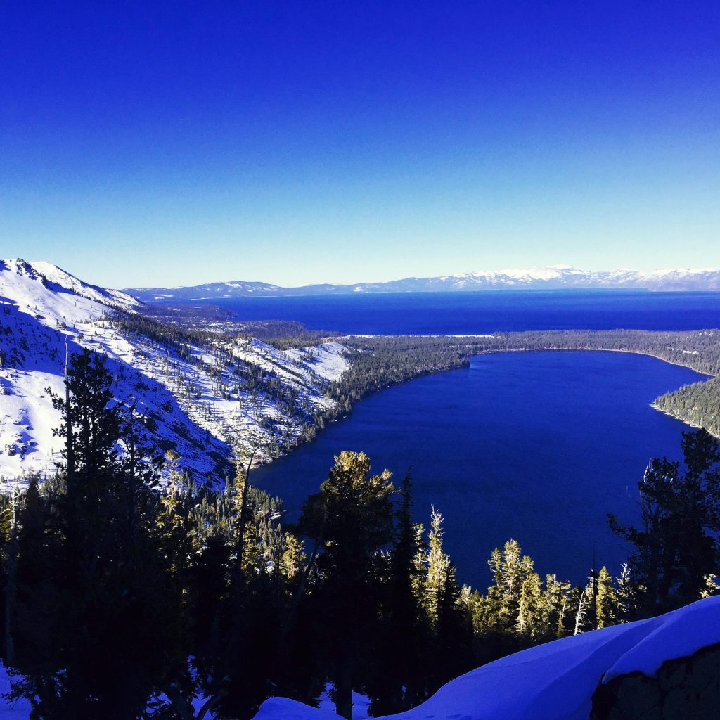 Fallen Leaf Lake and Lake Tahoe in the distance