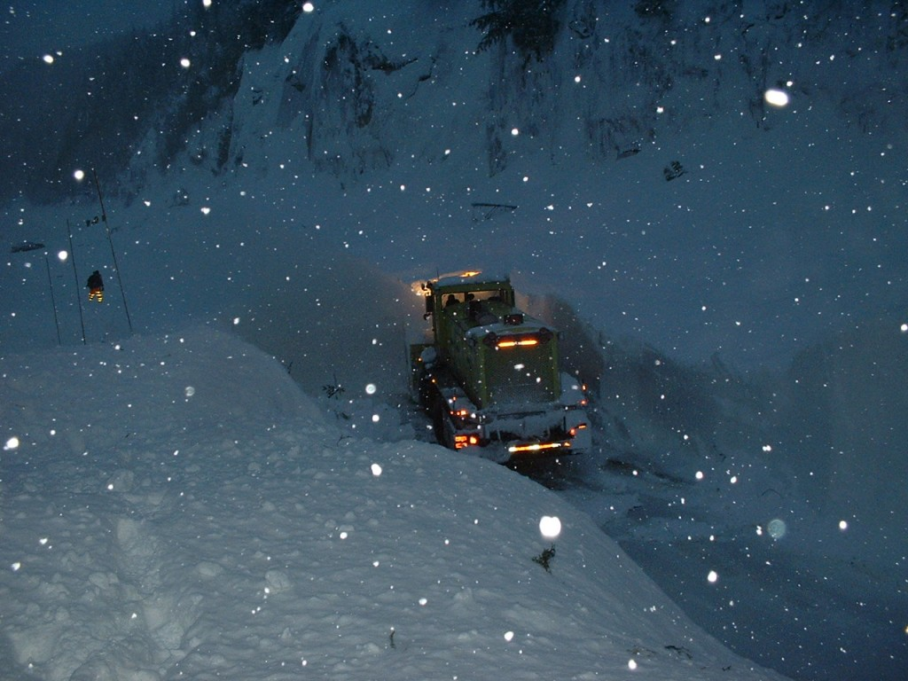 Snow Removal on Snoqualmie Pass - Photo Courtesy WSDOT