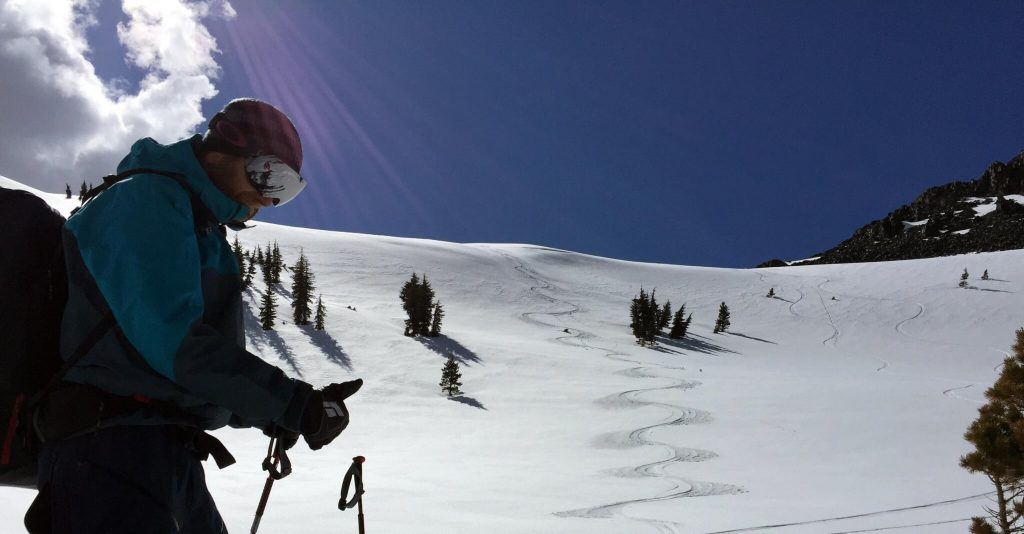 Mt Tallac Backcountry Skiing in May