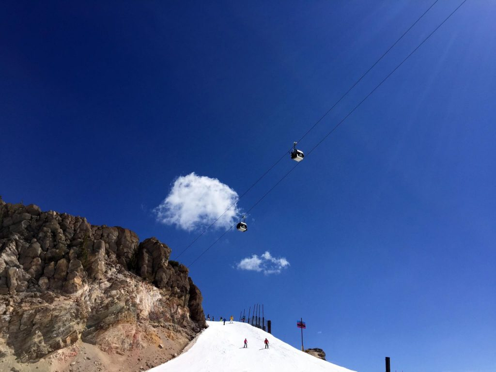 Mammoth Mountain Gondola Summer Snowboarding