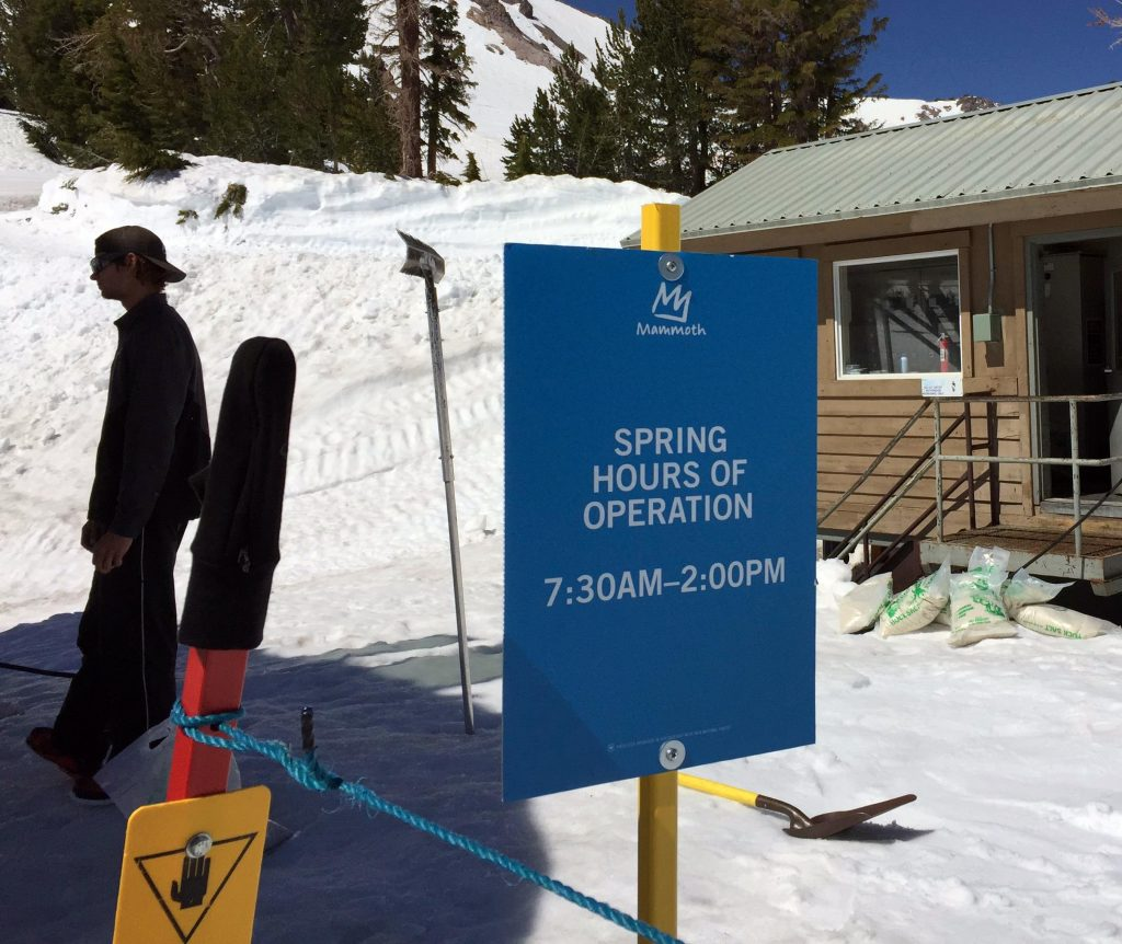 Is snow still good in late season Mammoth Mountain Spring Hours