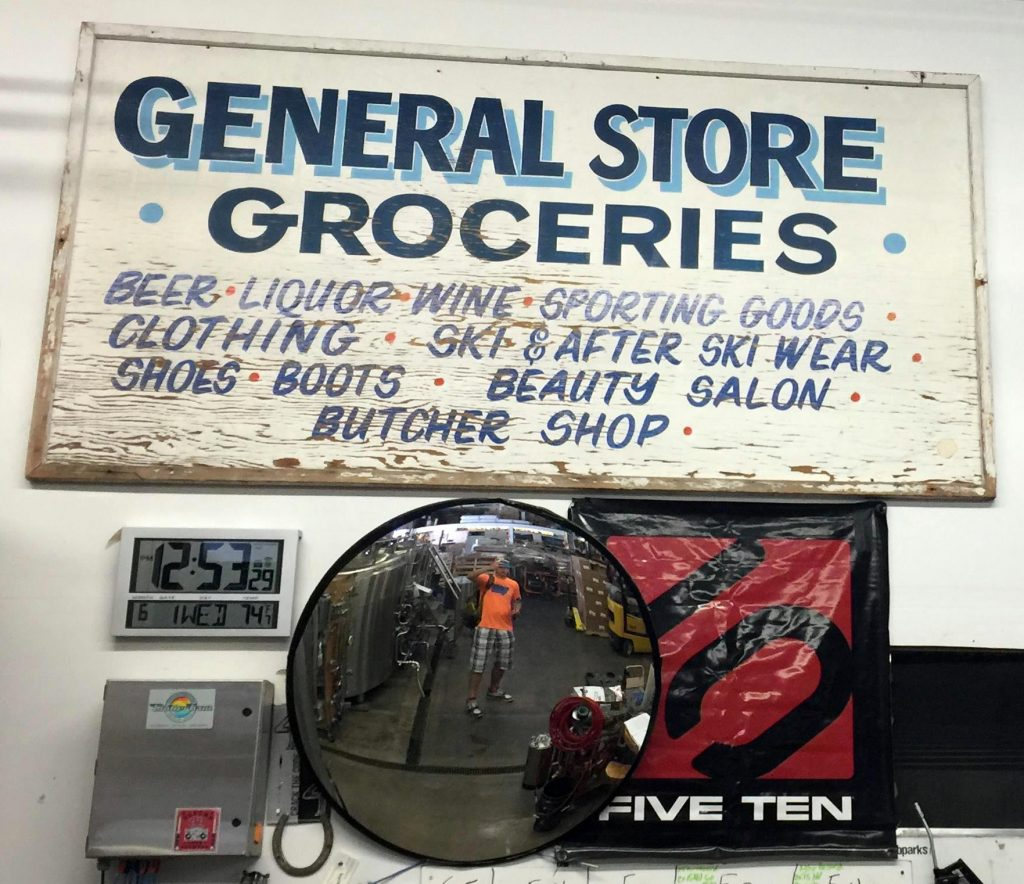 June Lake Brew Gen Store Sign