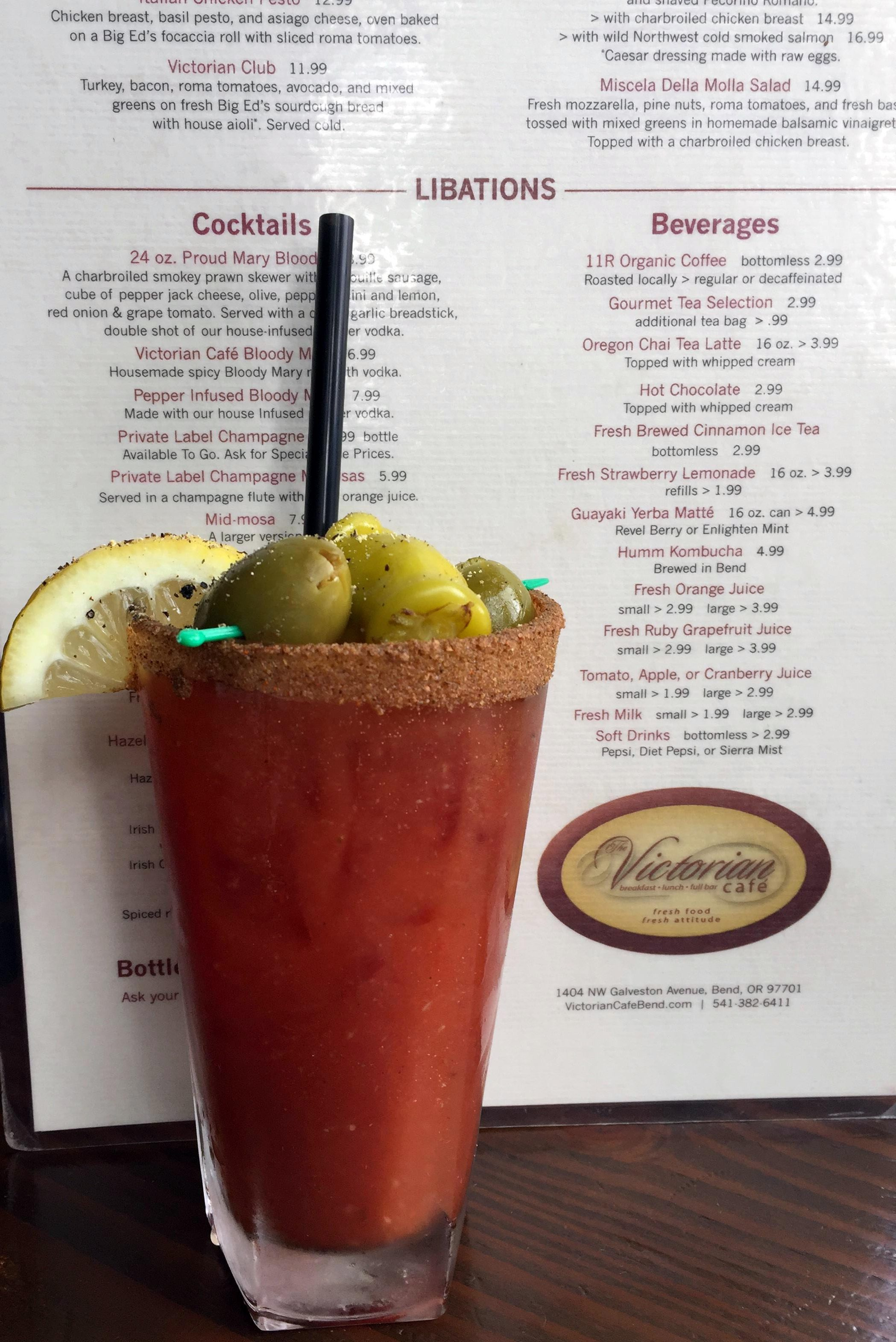 Bend Oregon Victorian Cafe Bloody Mary