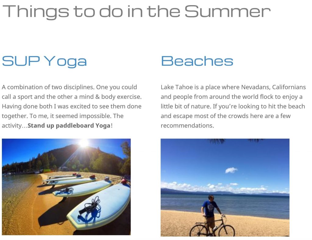 Tahoe Things to Do