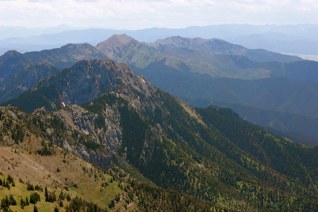 Photo Title: View of Bridgers from Sacajawea Peak Image taken by: Dolan Personke