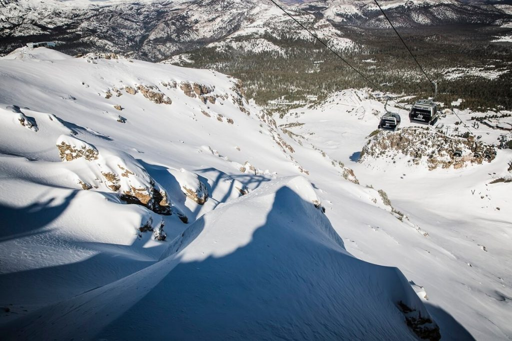 Fresh Snowfall over Mammoth Mountain - Image Courtesy Mammoth Mountain