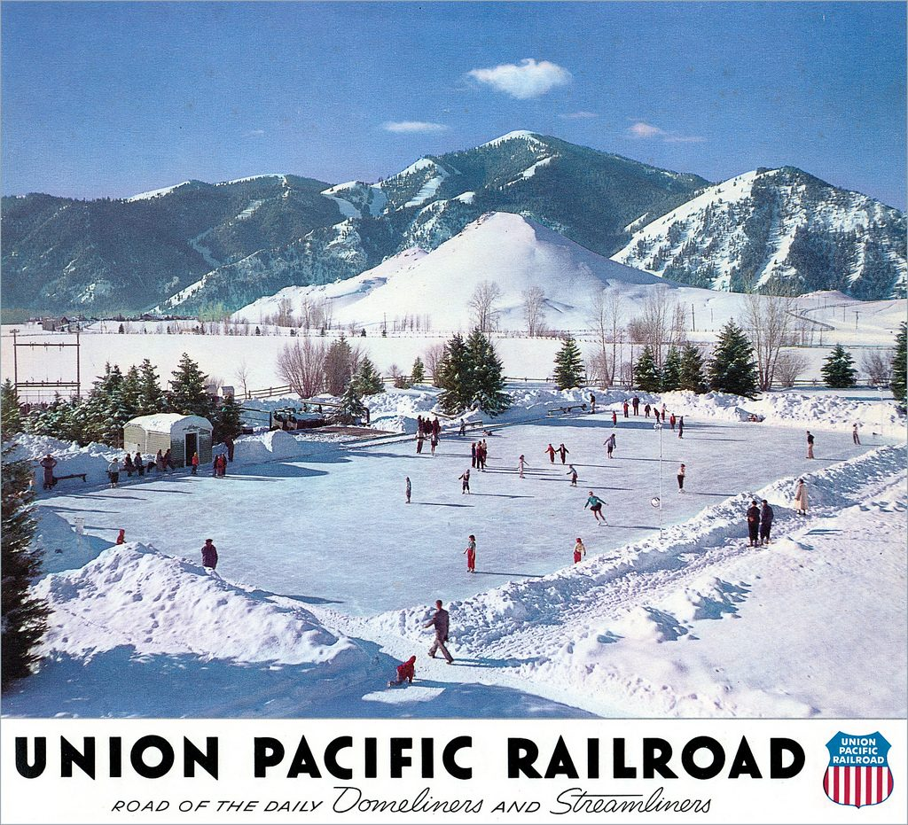 Union Pacific Railroad Calendar promoting Sun Valley - Image obtained by Derrick Bostrom