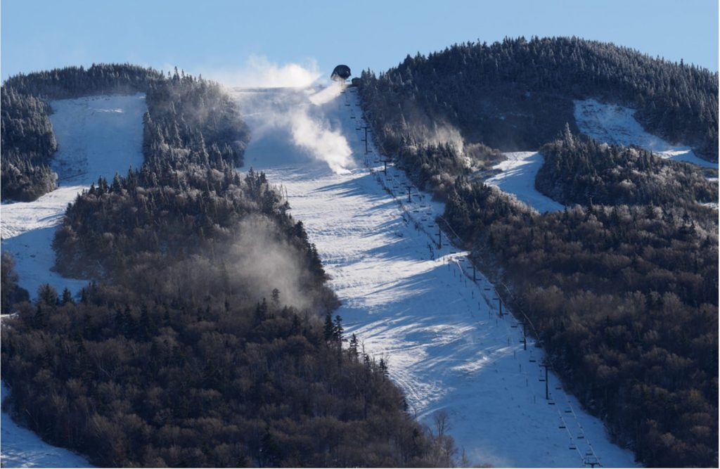 Snowmaking in October - Image taken by Will Humber