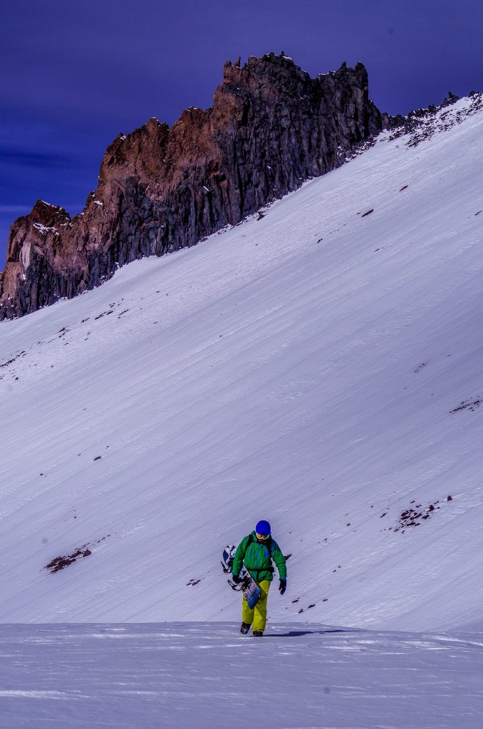 Shane Ricketts bootpacking the final leg on Mt. Shasta Image taken by: Zack Holm