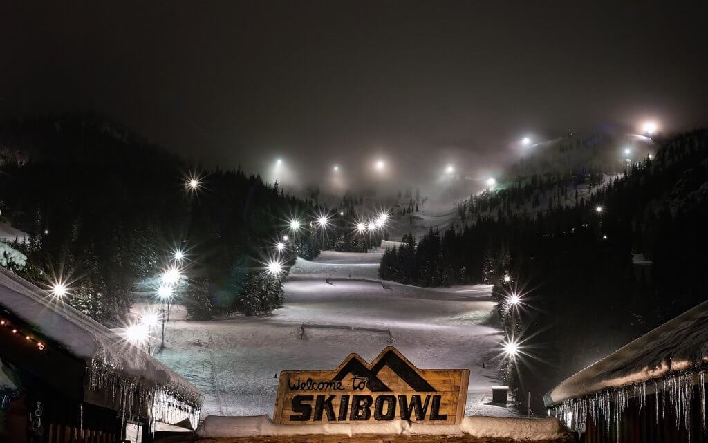 Guide to Mt Hood's Ski Resorts Skiing at night at Mt Hood Skibowl West