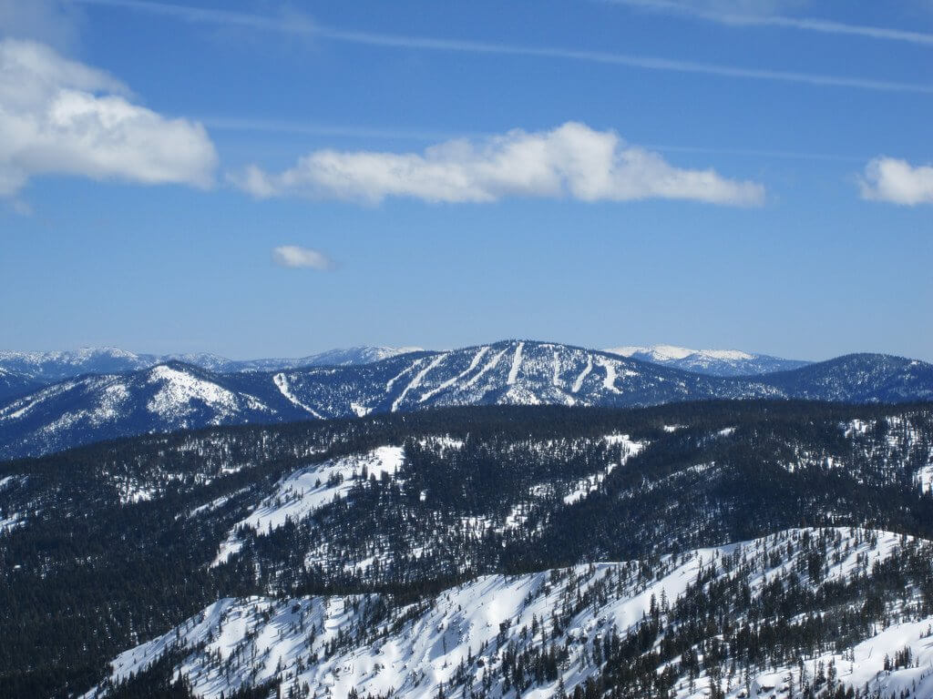 Northstar Ski Resort from a distance America's best ski resorts by train
