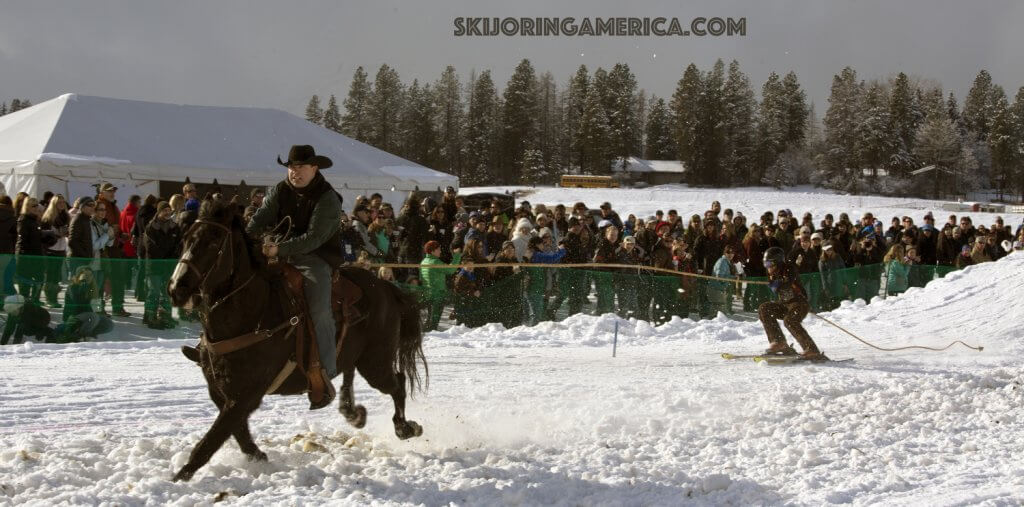 Whitefish Skijoring Championship crowd winter