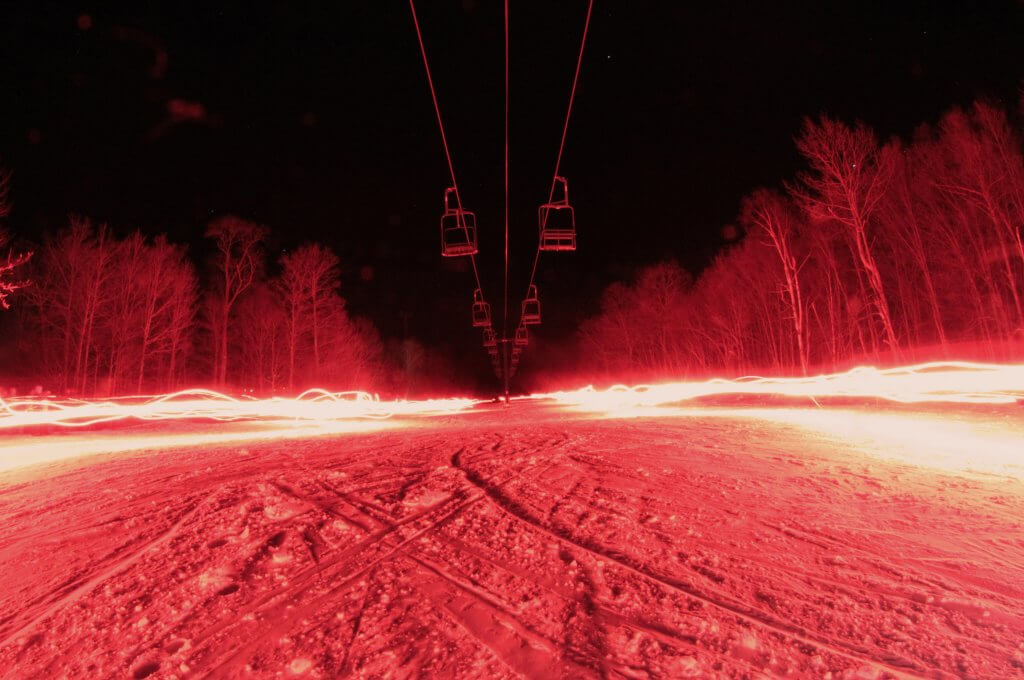 Torchlight Parade Smugglers Notch - a good option by train to ski resorts