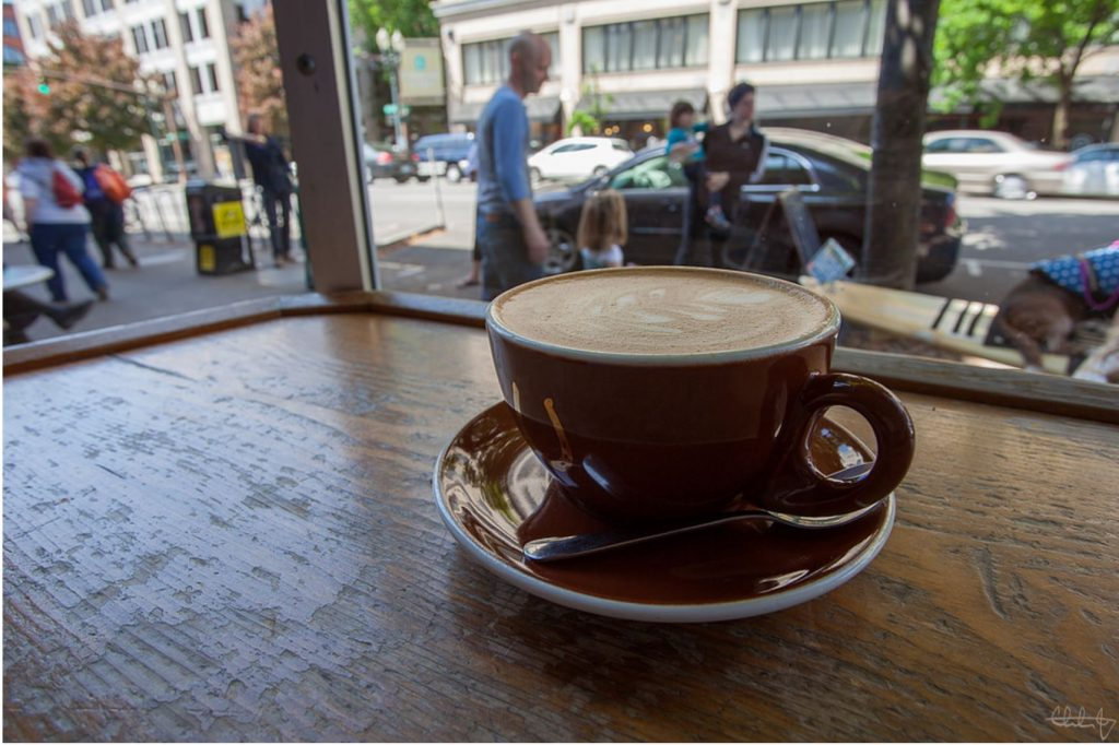 Guide to Mt Hood's Ski Resorts a cup of coffee at Stumptown Coffee Roasters in Portland