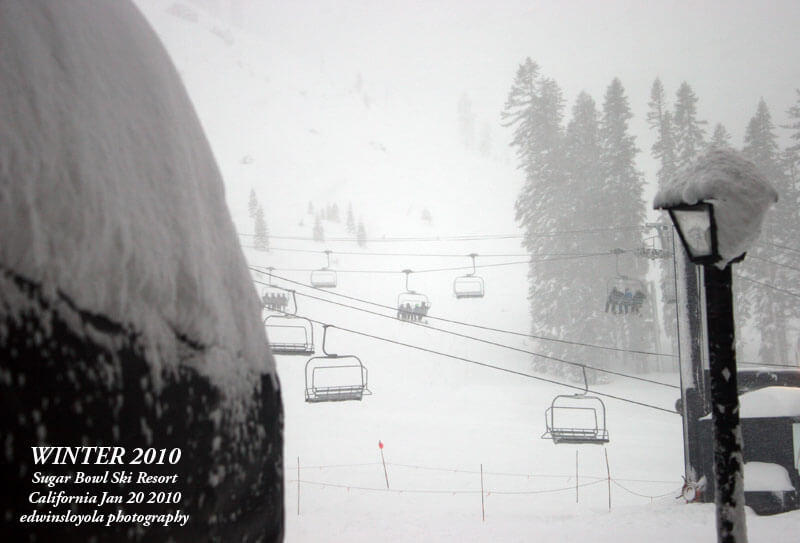 Biggest snowstorms at Ski Resorts Sugar Bowl Ski Resort Powder Day