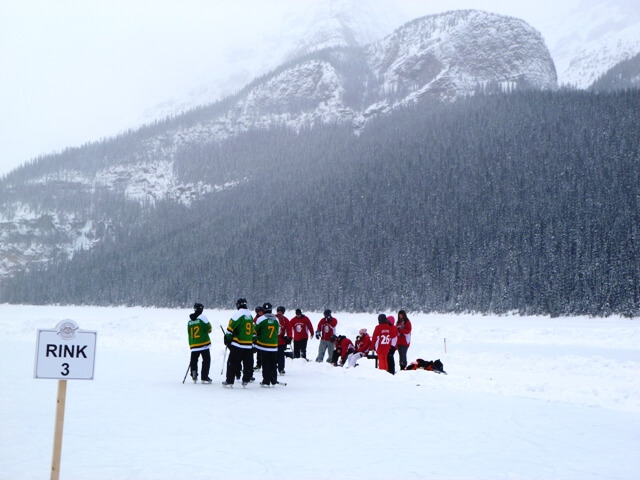 Lake Louise Pond Hockey winter