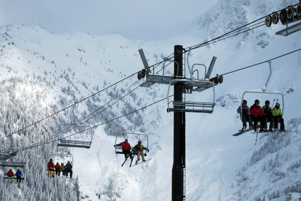 Biggest snowstorms at Ski Resorts Chairlift Mt Baker Ski Area