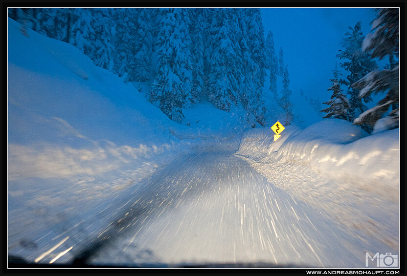 Most Dangerous Roads to Ski Resorts Mt Baker Highway blizzard