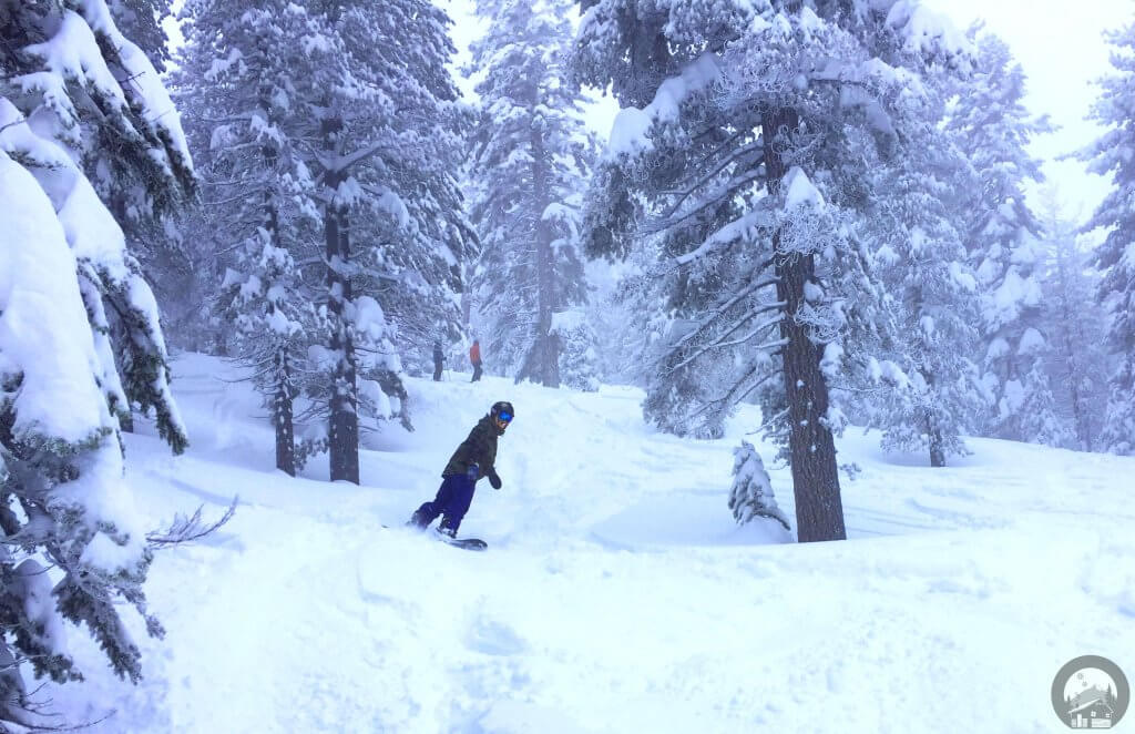 Snowboarding Powder Day at Heavenly Ski Resort Lake Tahoe