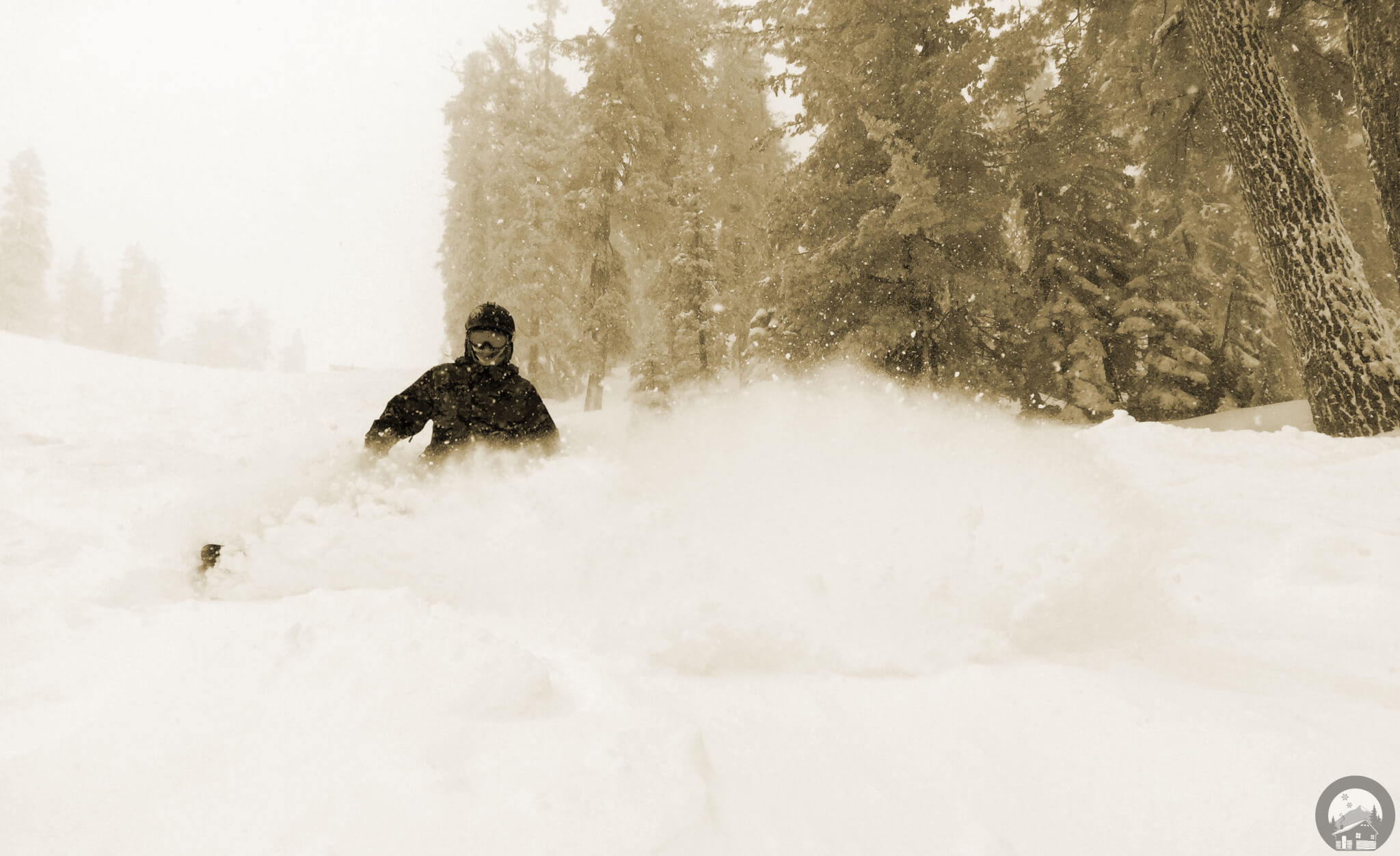 Powder Day at Heavenly Ski Resort Lake Tahoe