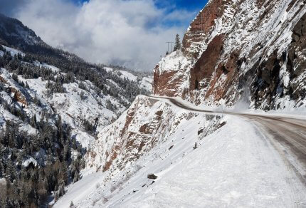 Most Dangerous Roads to Ski Resorts Silverton in Southern Colorado