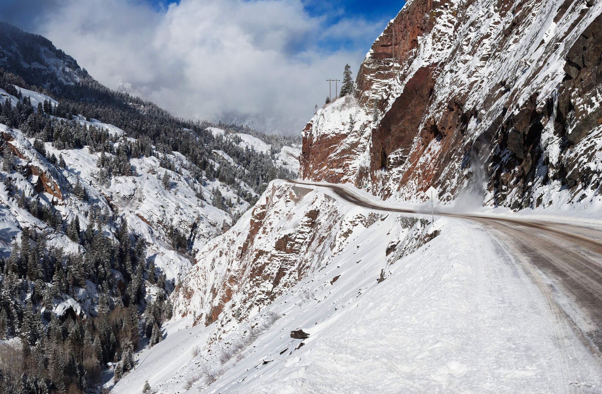 Drive It If You Can Most Dangerous Roads In The Us To A Ski Area