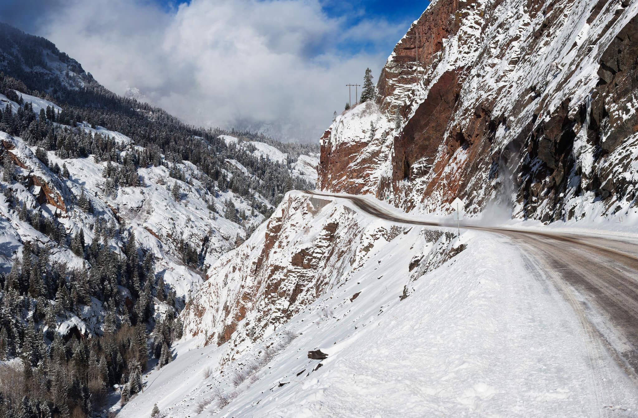 Most Dangerous Roads to Ski Resorts Silverton in Southern Colorado