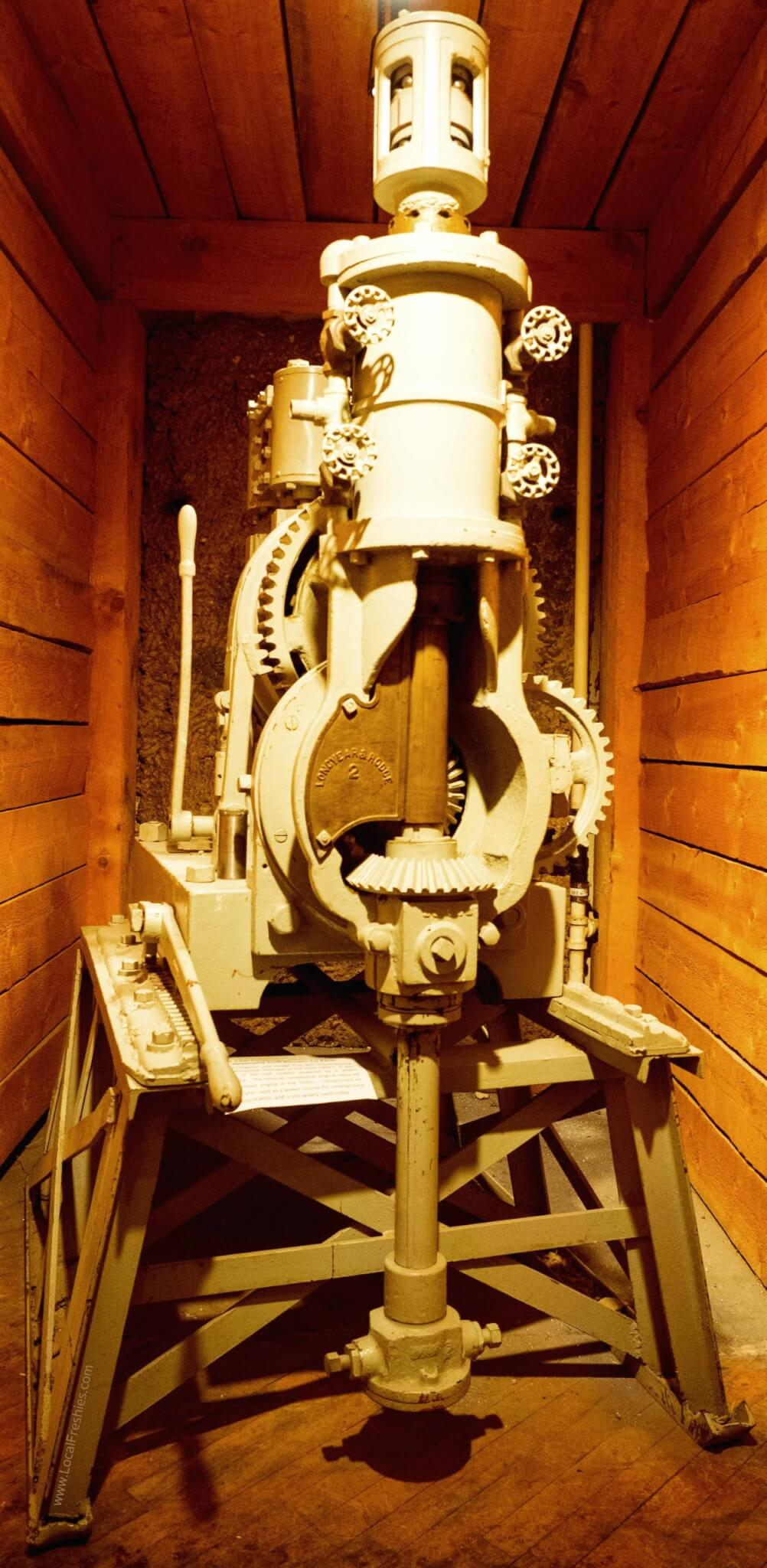 Mining Museum showcasing a bit of history of Wallace Idaho Large Drill bit