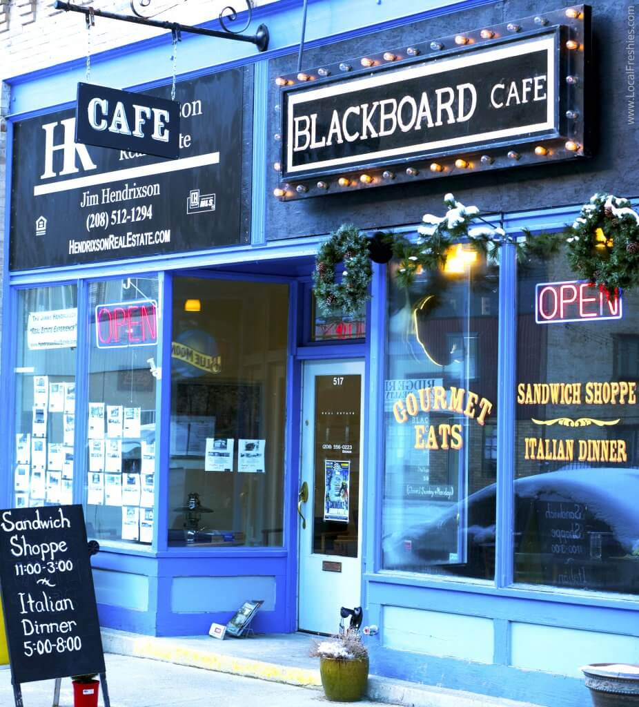 Blackboard Cafe Exterior Wallace Idaho
