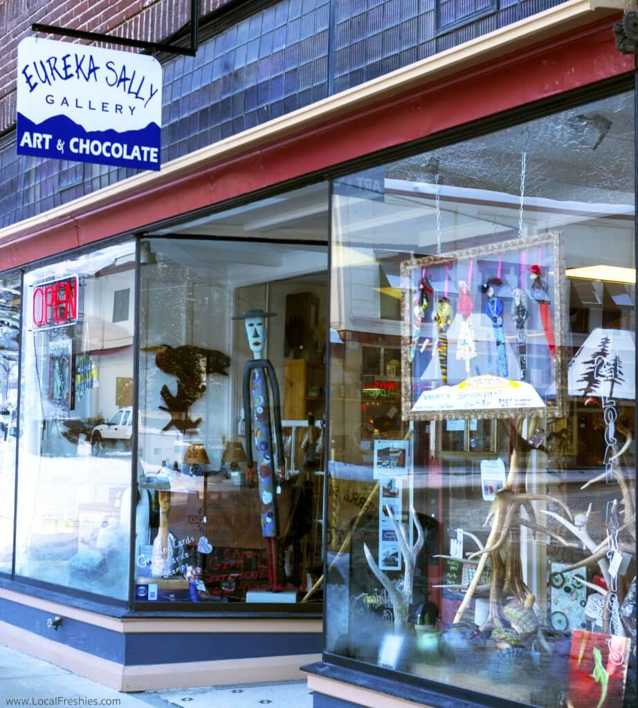 Eureka Sally art gallery chocolates wallace idaho