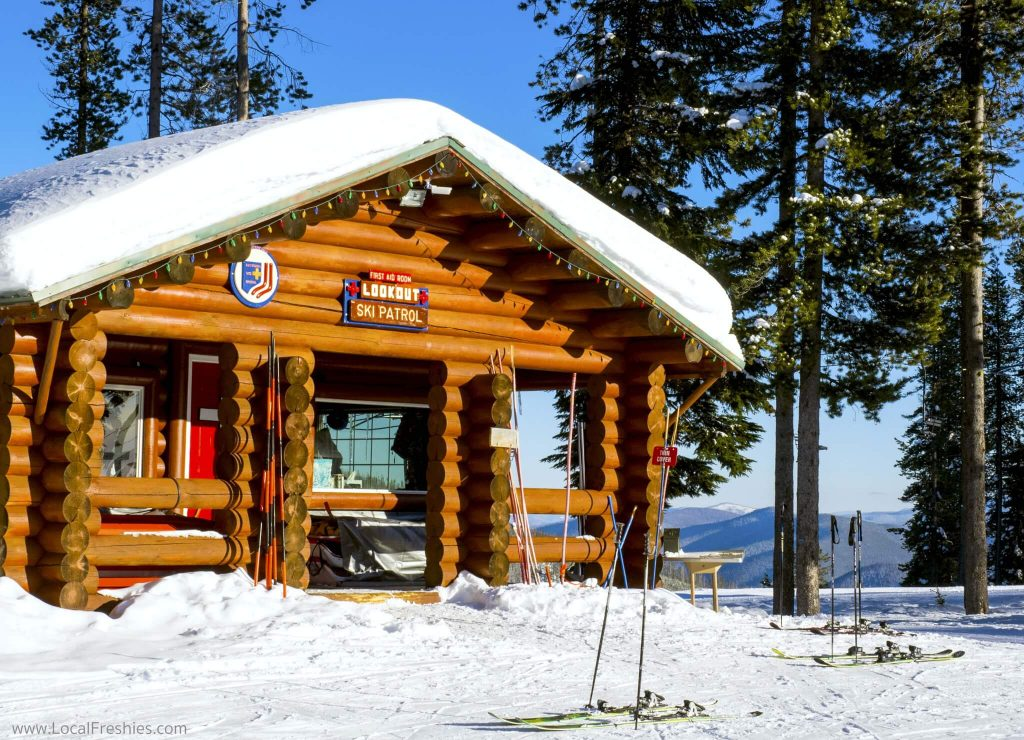 Lookout Pass Ski Resort Ski Patrol lodge Winter Idaho